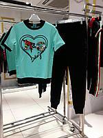 Женский бирюзовый спортивный костюм DOLCE&GABBANA ТУРЦИЯ БРЕНД ОРИГИНАЛ, фото 1