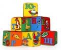 Набор мягких кубиков. Цифры, животные, алфавит 6 шт., Розумна играшка.