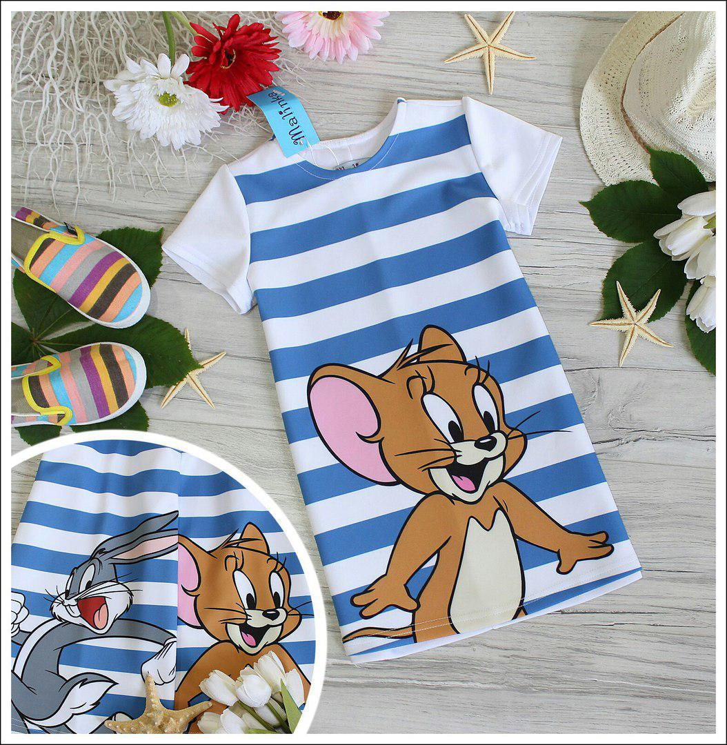 Детское платье с мышонком джерри