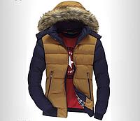 Молодёжная стильная демисезонная куртка с капюшоном и мехом р.3XL(50-52) ЗАМЕРЫ В ОПИСАНИИ!