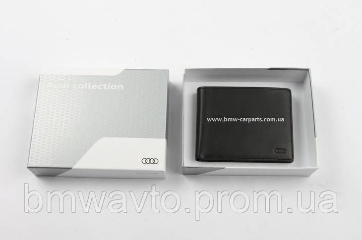 Мужской кожаный кошелек Audi Men's Wallet Leather, фото 3