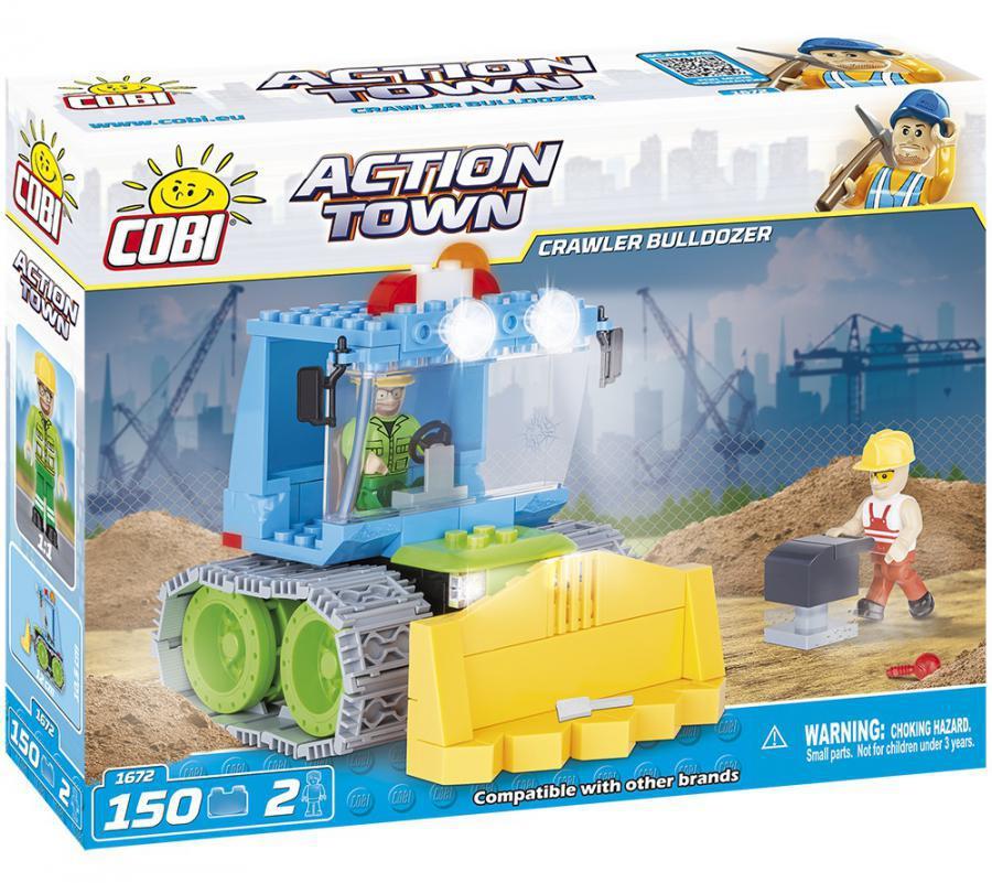 Конструктор Гусеничный бульдозер COBI серия Action Town (COBI-1672)