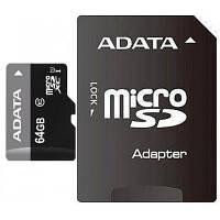 Карта памяти A-DATA 64GB microSD class 10 UHS-I (AUSDX64GUICL10-RA1)