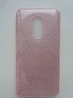 Силиконовая накладка Gliter для Xiaomi Note 4X (Pink)