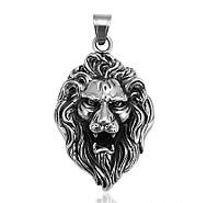Кулон Голова Льва из нержавеющей стали  арт 33410