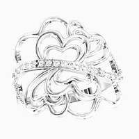Кольцо  женское серебряное Фантазия KE-1422