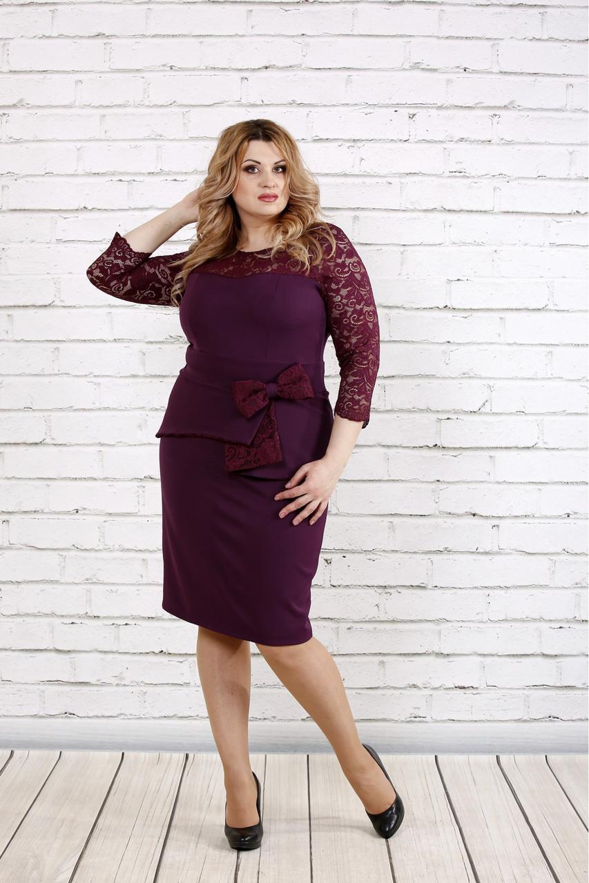Платье женское красивое для полных 0767 фиолетовое