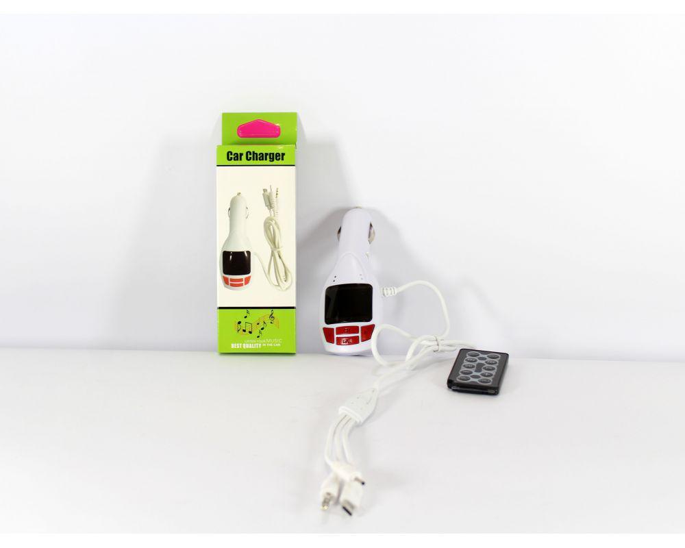 Фм-Модулятор, трансмиттер FM MOD CM 7010 c зарядное для телефона
