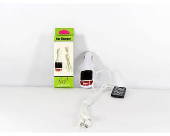 Фм-Модулятор, трансмиттер FM MOD CM 7010 c зарядное для телефона, фото 2
