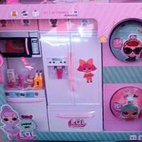 Детская кухня для кукол в стиле Лол+2 шарика с игрушкой