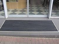 Алюминиевые напольные решетки «Лен» наполнение (резина+резина+щетка)
