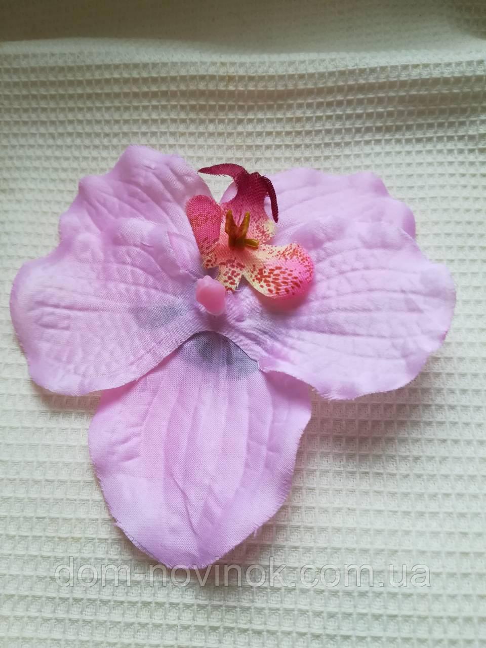 Заколка Гавайская орхидея розовая 12 см.