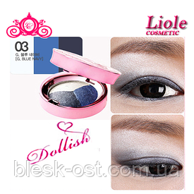 Тени для век Lioele Dollish Eyeshadow Голубой нави