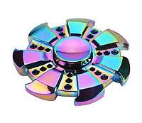 Spinner спиннер антистресс семиугольная радуга (металл)