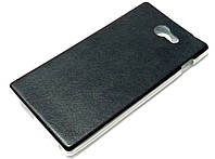 """Чехол силиконовый """"под кожу"""" для Sony Xperia M2 Dual d2302 / M2 d2305 / M2 LTE d2303 черный"""