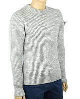 В язаний чоловічий светр Comandini 0530 Н коло в світло-сірому кольорі 5637b133b3490