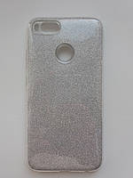 Силиконовая накладка Gliter для Xiaomi Redmi Note 5A Prime / Redmi Y1 (Silver)