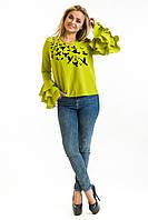 Оригинальная женская блуза с рюшами на рукавах, фото 1