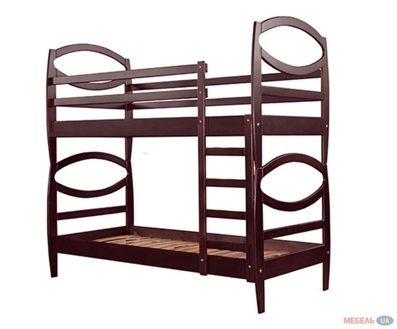 Ліжко двоярусне в дитячу кімнату з дерева Оріон 90*200  трансформер Sovinion