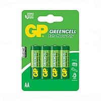 Батарейка GP 15G-U4 4BL солевая R6. AA GREENCELL