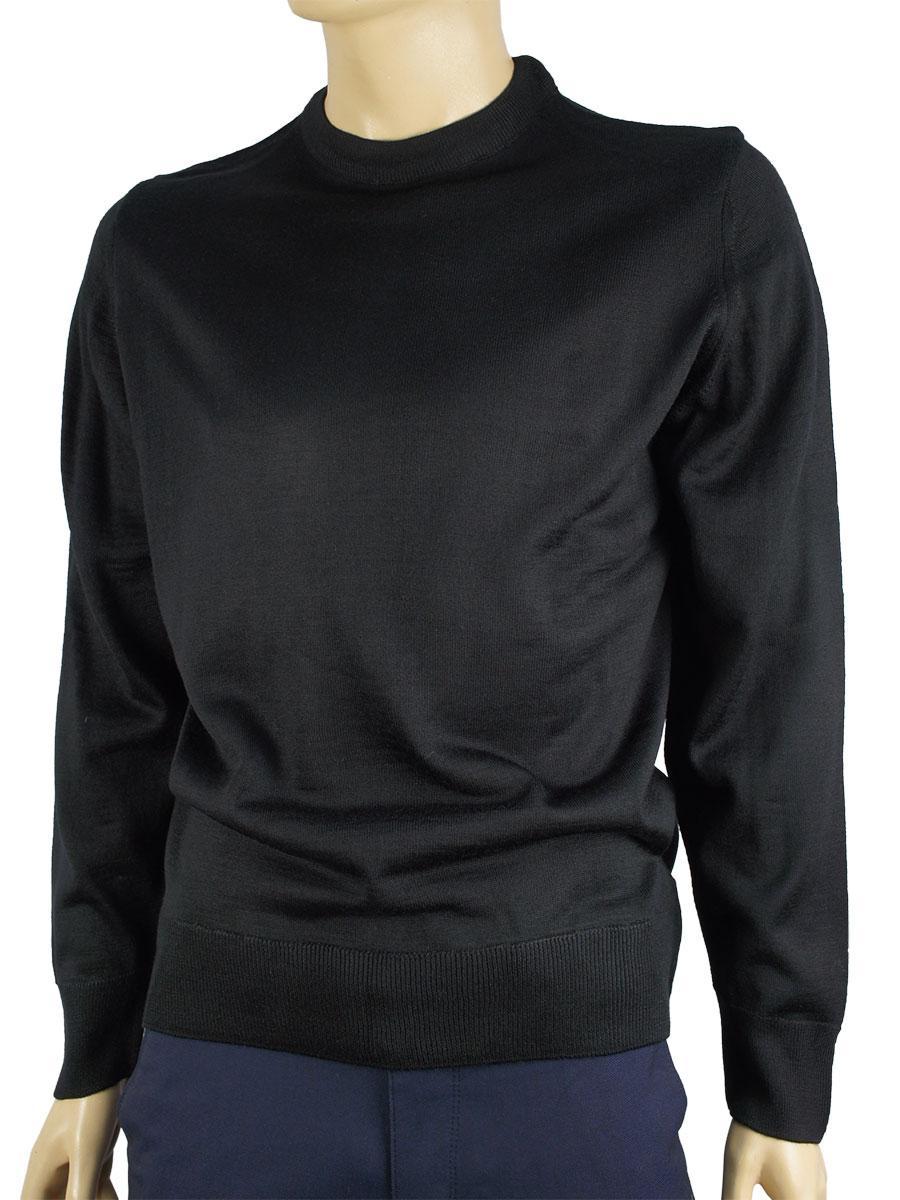 Чоловічий светр Wool Yurt 0250 коло в чорному кольору