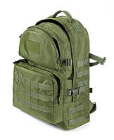 Тактический походный супер-крепкий рюкзак на 40 литров олива. Армия, спорт, туризм, рыбалка. YKK