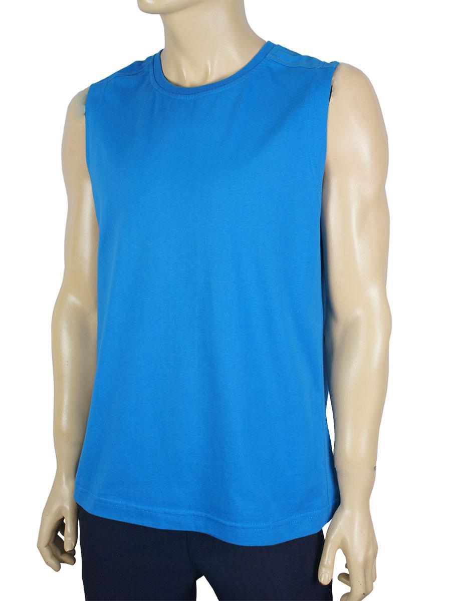 Чоловіча безрукавка Imako 0254 синього кольору