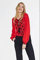 """Однотонная женская блуза с """"вышивкой"""" (2 цвета), фото 1"""