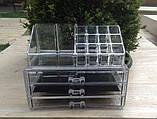 Пластиковый органайзер-комод двухуровневый для косметики и аксессуаров, фото 4