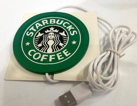 "Подставка под чашку с подогревом от USB ""Starbucks"", фото 2"