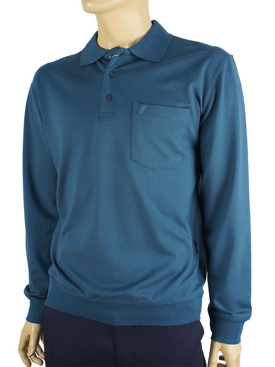 Чоловічий батник La Peron 0729 синього кольору