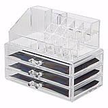 Пластиковый органайзер-комод двухуровневый для косметики и аксессуаров, фото 3