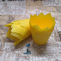 Бумажные формы Тюльпан Желтые