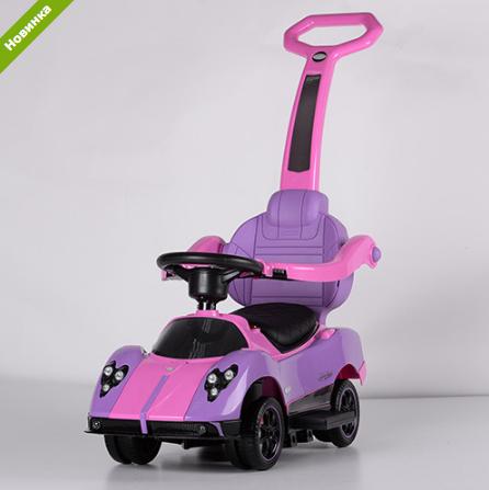 Каталка-толокар Lamborghini M 3628EL-9 фиолетовый , кож сиденье, EVA к