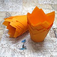 Бумажные формы Тюльпан Оранжевые