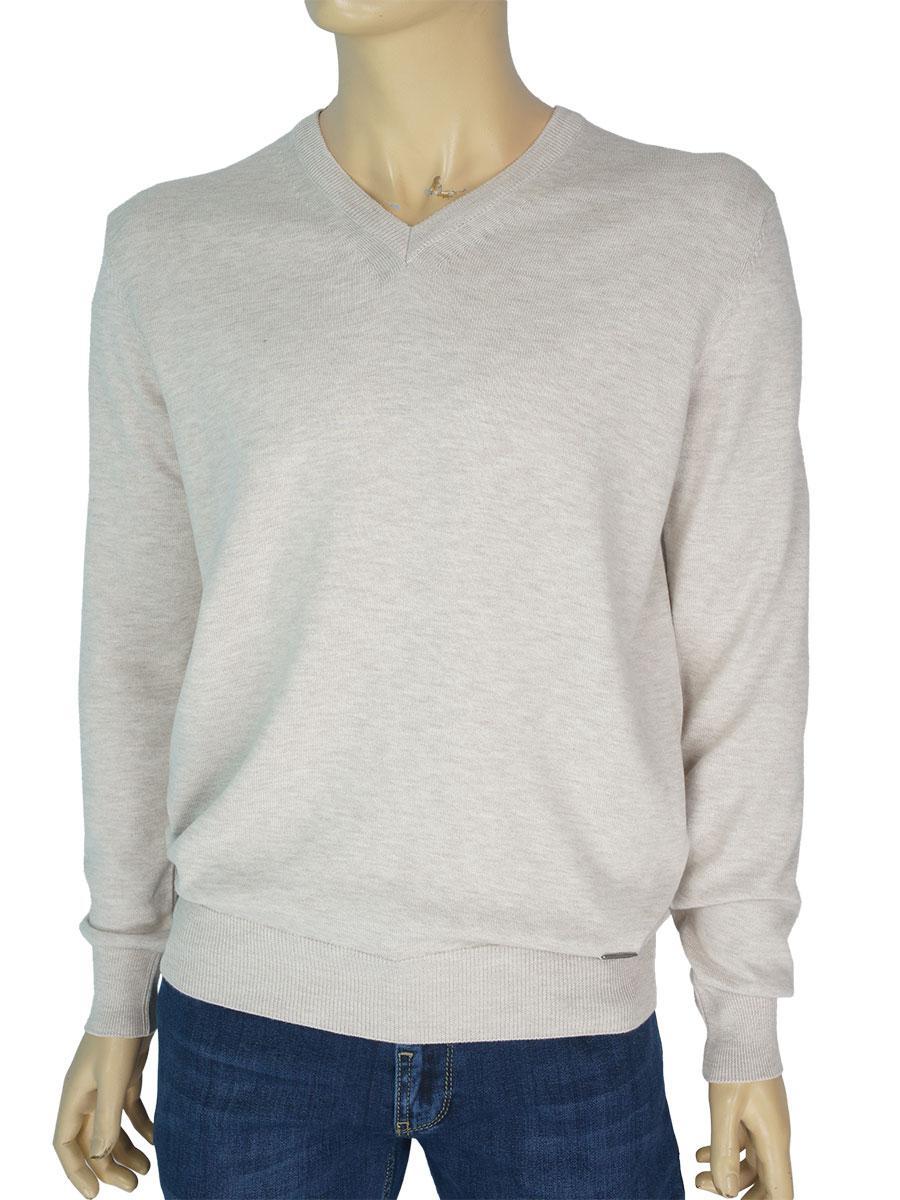 Турецький чоловічий светр Better Life 1019 H в бежевому кольорі