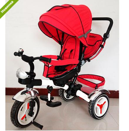 Трехколесный велосипед M 3200A-3 (аналог Puky Cat S6), красный  ***