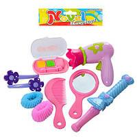 Игровой набор аксессуаров DS773-3 расческа,зеркало,заколочки,резиночки,косметика