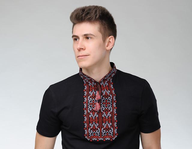 Чоловічі вишиті футболки короткий рукав