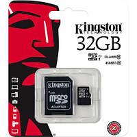 Карта памяти KINGSTON microSDHC 32GB Class 10 UHS-I + adapter U1 (R45, W10MB/s)