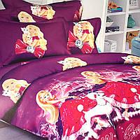 Комплект постельного белья полуторный 150/220 с детским рисунком,одна нав-ка 70/70,ткань поплин 100% хлопок