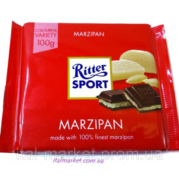 Шоколад Риттер Спорт марципан Ritter Sport Marzipan 100г