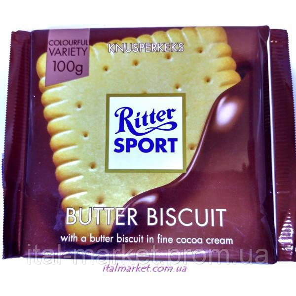 Шоколад Риттер Спорт Бисквит Ritter Sport Butter Biscuits 100г - ItalMarket  интернет-магазин в Черновицкой dee2127b096