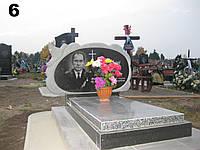 Подвійний пам'ятник із покостівського граніту