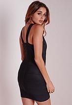Новое черное облегающее платье Missguided, фото 2