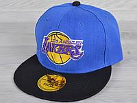 """Кепка-реперка детская """"Lakers"""". Размер 54-55 см. Электрик. Оптом и в розницу."""