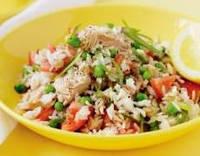 Салат из риса и тунца