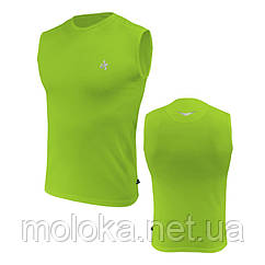 Спортивная футболка без рукавов Radical Tanker салатовая