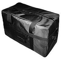 Тактическая супер-крепкая сумка 100 Литров. Экспедиционный баул. Черная. ВСУ охота спорт туризм рыбалка.