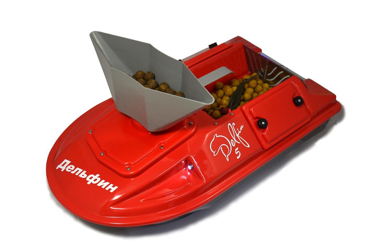 Кораблик для риболовлі Дельфін-5 з ехолотом Lucky FF 718 Li-w і GPS